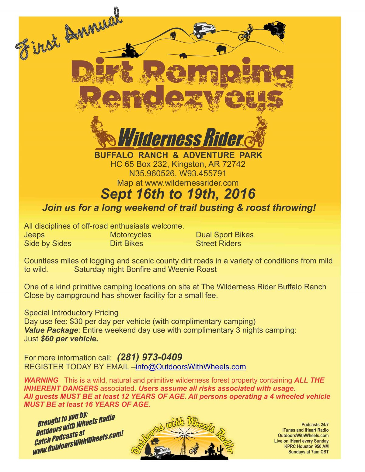 Dirt Romping Rendezvous Flier