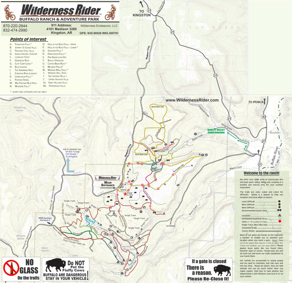 Large map of both campgrounds
